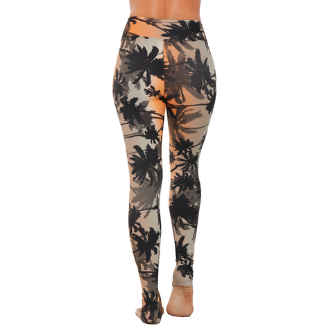Extra Long Patterned Yoga Legging Tropical Sunset (Final Sale)