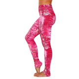 Extra Long Patterned Yoga Legging Pink Glow (Final Sale)