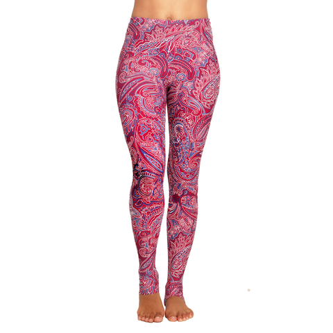 Extra Long Patterned Yoga Legging Yama