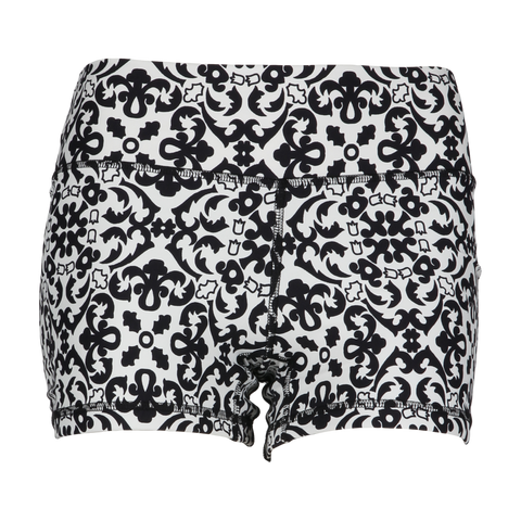 Bad Ass Yoga Shorts Black Ink (Final Sale)