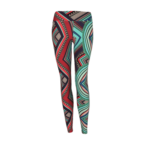 Extra Long Patterned Legging Aztec Maze (Final Sale)