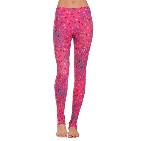 Extra Long Patterned Yoga Legging Love Chains (Final Sale)