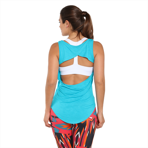 Lean on Me Tank Turquoise