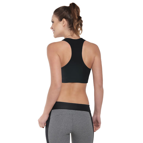 Heart and Soul Sports Bra Black