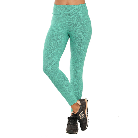 Jacquard Yoga Legging Turquoise Ivy (Final Sale)