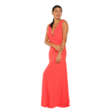Maxi Dress Aphrodite Coral (Final Sale)