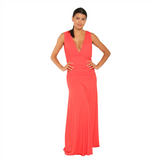 Maxi Dress Aphrodite Coral