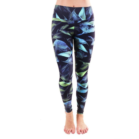 Patterned Yoga Legging Dark Forest (Final Sale)