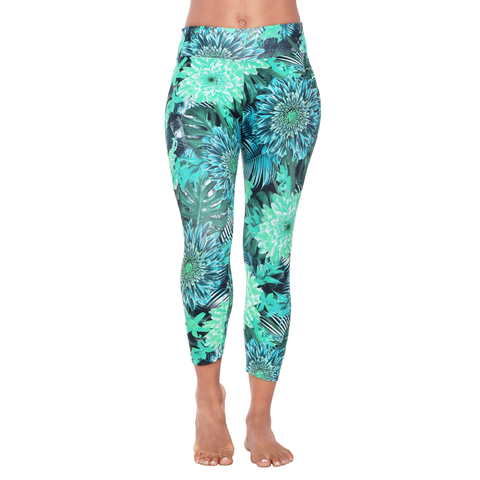 Patterned Yoga Legging Green Gillyflower