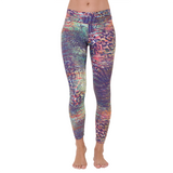 Patterned Yoga Legging Tanzania in Purple