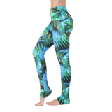 Wide Waistband Patterned Yoga Legging Caipirinha Beach