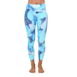 Patterned Yoga Legging Ocean Leaves