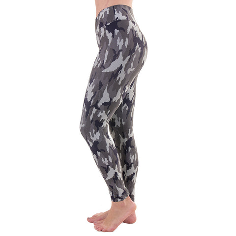 Patterned Yoga Legging Militar