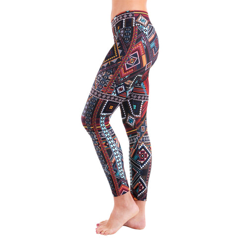 Patterned Yoga Legging Madagascar (Final Sale)