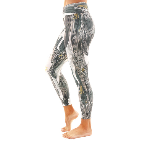 Patterned Yoga Legging Abstract Waves
