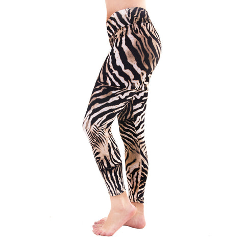 Patterned Yoga Legging Golden Zebra (Final Sale)