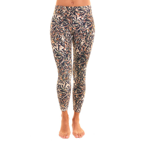 Patterned Yoga Legging Sudan (Final Sale)