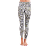 Patterned Yoga Legging Mandala Flower