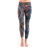 Patterned Yoga Legging Tracery Effect