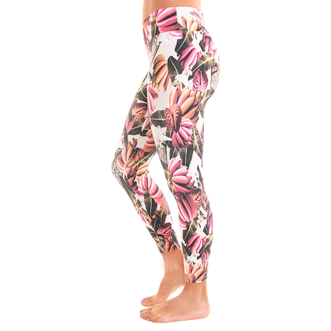 Patterned Yoga Legging Banana Berry