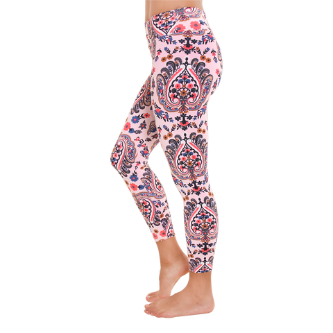 Patterned Legging Pink Blossom