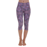 Patterned Yoga Capri Raja Yoga