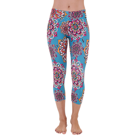 Patterned Yoga Capri Dalyan