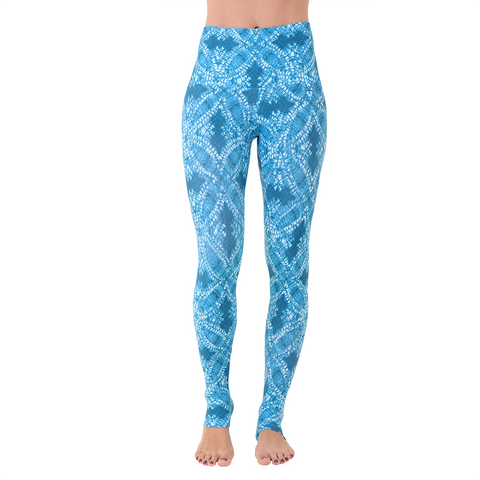 Wide Waistband Patterned Yoga Legging Starfish (FIinal Sale)
