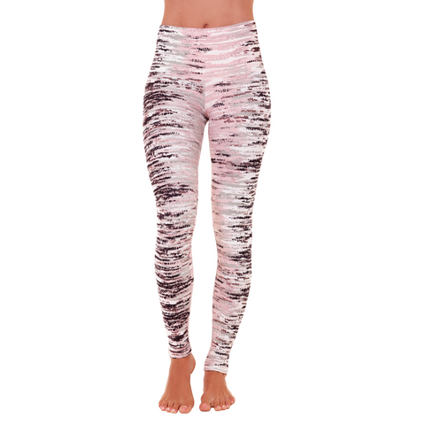 Wide Waistband Patterned Yoga Legging Himalaya