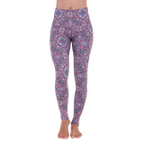 Wide Waistband Patterned Yoga Legging Raja Yoga
