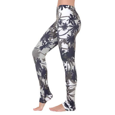 Wide Waistband Patterned Yoga Legging Tropical Storms (Final Sale)