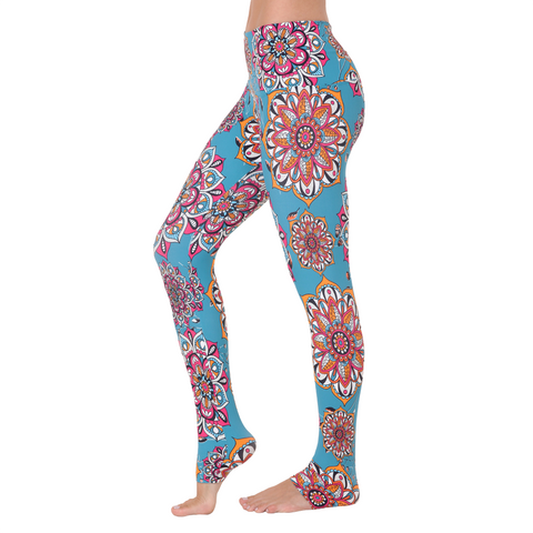 Wide Waistband Patterned Yoga Legging Dalyan (Final Sale)