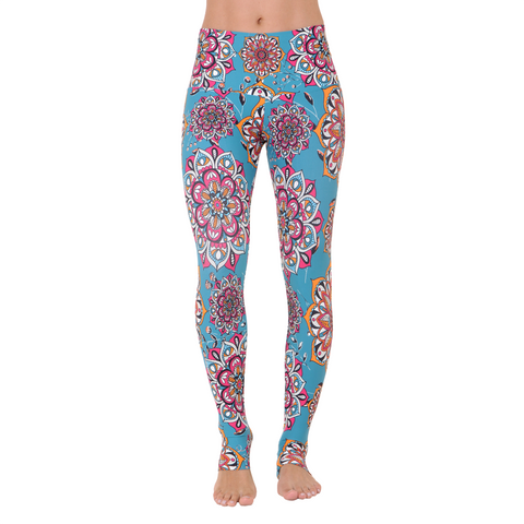 Wide Waistband Patterned Yoga Legging Dalyan