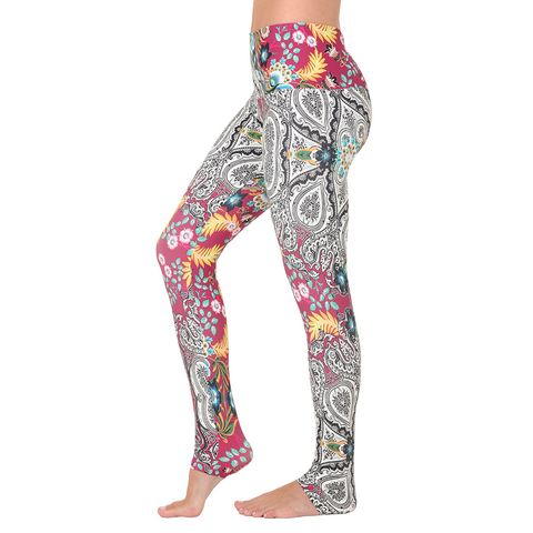 Wide Waistband Patterned Yoga Legging Belle du Jour (Final Sale)