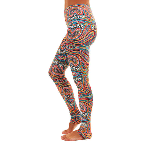 Wide Waistband Patterned Yoga Legging Bliss