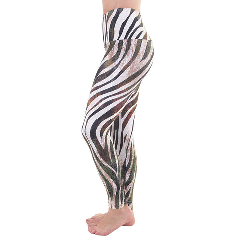 Wide Waistband Patterned Yoga Legging Into The Wild (Final Sale)