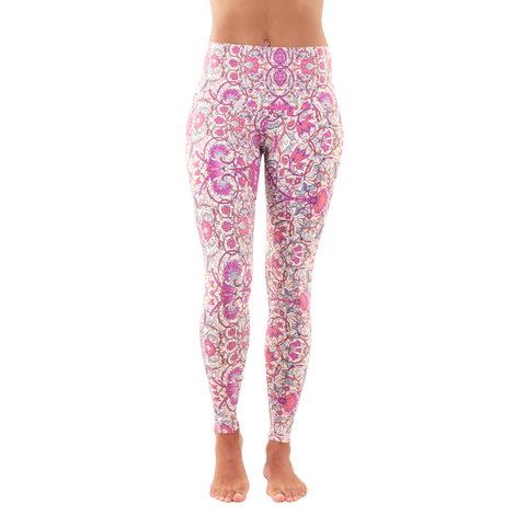 Wide Waistband Patterned Yoga Legging Tuscany