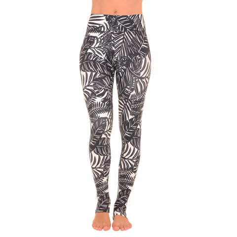 Extra Long Patterned Legging The Palms B&W