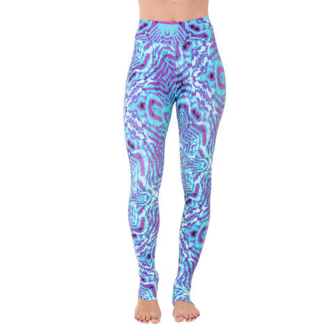 Extra Long Patterned Yoga Legging Seva by Tiffany Cruikshank
