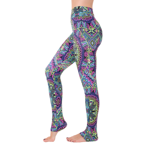 Extra Long Patterned Yoga Legging Gipsy Queen (Final Sale)