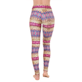 Extra Long Patterned Yoga Legging Magic Sequin