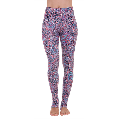 Extra Long Patterned Yoga Legging Raja Yoga