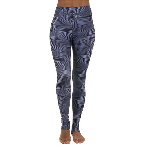 Extra Long Patterned Legging Silver Spotlight