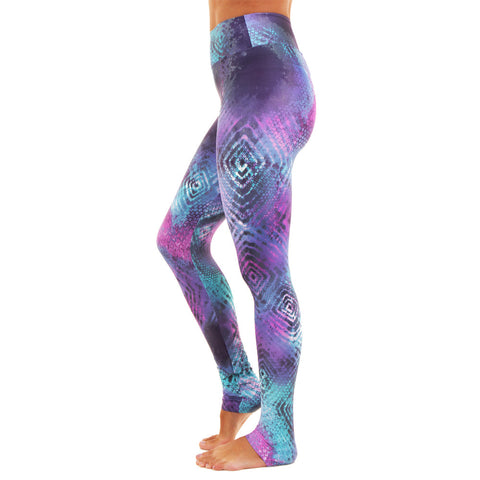 Extra Long Patterned Yoga Legging Trance