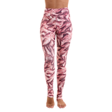 Extra Long Patterned Yoga Legging Flamingo