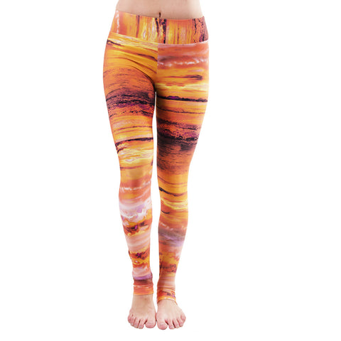 Extra Long Patterned Yoga Legging Giza (Final Sale)
