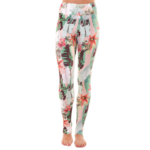 Extra Long Patterned Yoga Legging Bloom