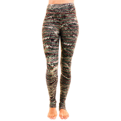 Extra Long Patterned Yoga Legging Passion Power