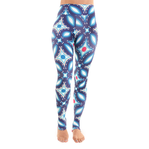 Extra Long Patterned Yoga Legging Nostalgic