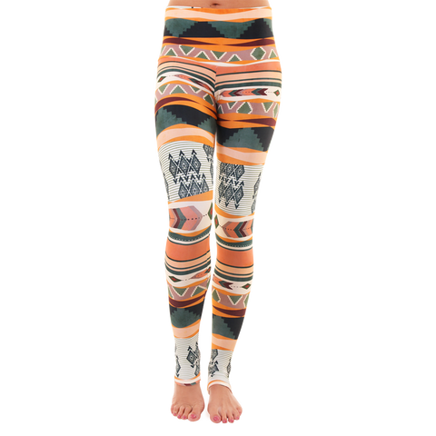 Extra Long Patterned Yoga Legging Tribe
